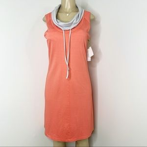 TE VERDE  Coral Sleeveless Sweatshirt Dress NWT